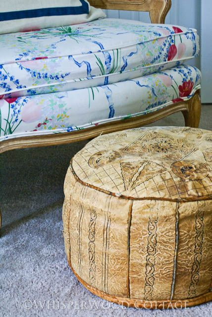 Pouf! Well-Loved Vintage Moroccan Pouf/Ottoman