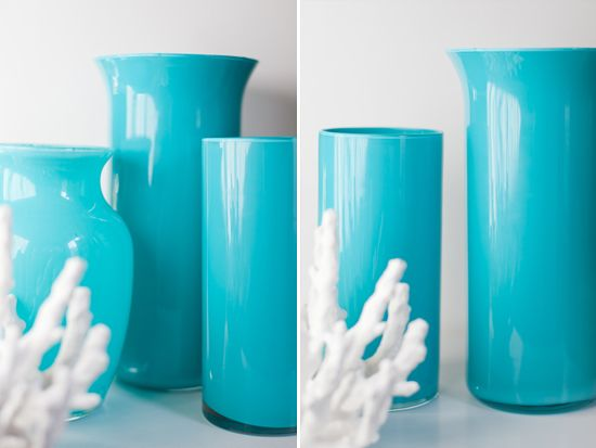An easy way to change clear glass vases to something special.