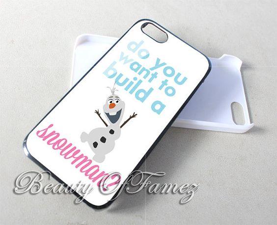Olaf Disney Frozen Disney Snowman for iPhone 4, iPhone 4s, iPhone 5, iPhone 5s, iPhone 5c Samsung Galaxy S3, Samsung Galaxy S4 Case
