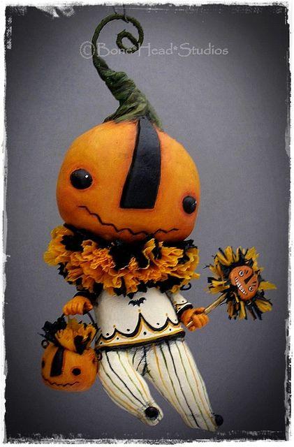 Halloween  , Calabacitas - pumpkin ,  gourd  art   - Pumpkin , anthropomorphic , ornament  ,  folk art , art doll ,