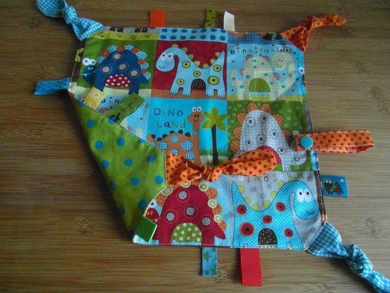 Schmusetücher - Schnuffel-Nuckel-Tuch für Babys und Kleinkinder - ein Designerstück von Mamas-Naehstuebli bei DaWanda