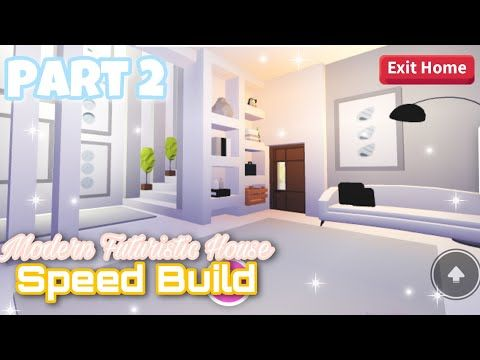 Modern Futuristic House Part 2 Speed Build Roblox Adopt Me Youtube Futuristic Home My Home Design Cute Room Ideas