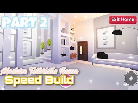 Modern Futuristic House Part 2 Speed Build Roblox Adopt Me Youtube Futuristic Home My Home Design Cute Room Ideas