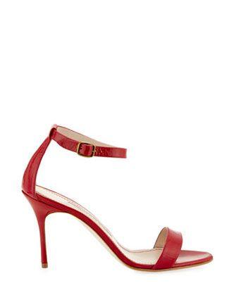 MANOLO BLAHNIK Chaos Patent Ankle Strap Sandal