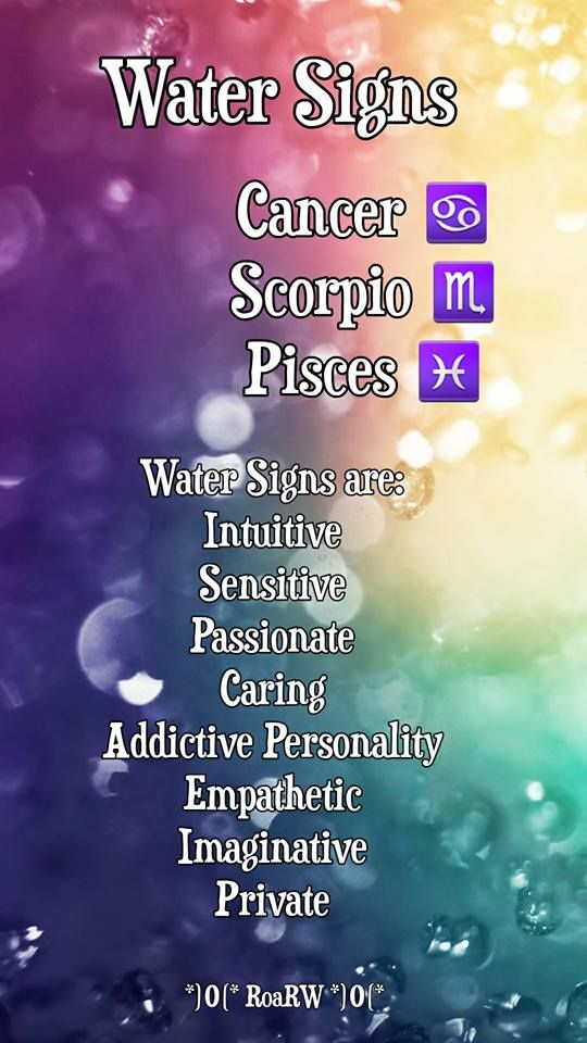 Water Signs Water Signs Virgo Zodiac Astrology