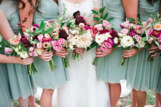 J Crew Dusty Shale Bridesmaid Dresses // Chicory Florals // Philadelphia Wedding // alison dunn photography
