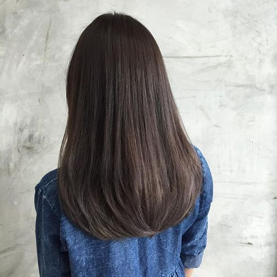 Sweet Straight Long Dark Brown Hair Hair Styles Straight Hairstyles Long Hair Color