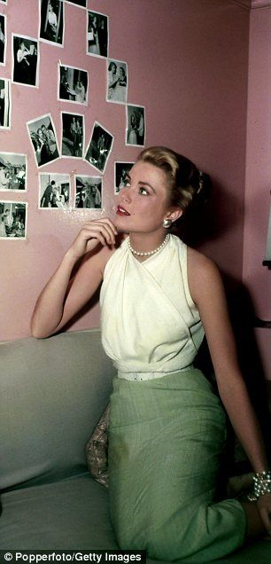 i favorite outfit grace wore in rear window halter blouse paired with a suit.