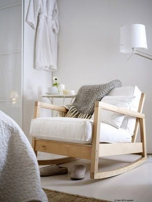 Ikea rocking chair - I have wanted one of those ones for SO LONG, they are so so comfortable: