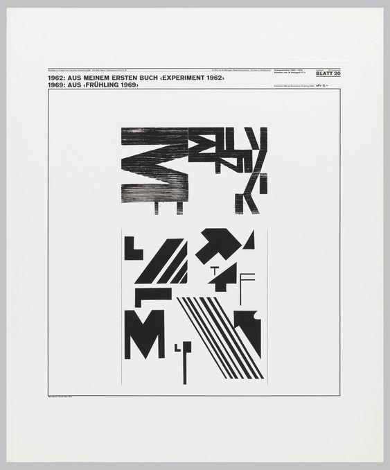 Poster, Blatt 20, 1962; 1969, Aus Meinem Ersten Buch..., 1972