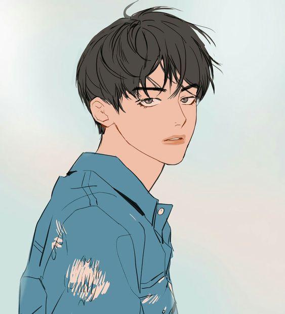Image Cartoon V Bts Taehyung Fanart Boy Art Anime Drawings Boy
