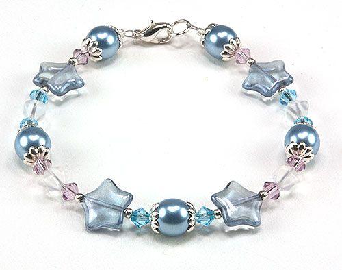 Jewelry Making Idea: Let It Snow Bracelet (eebeads.com)