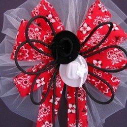 western bandana wedding bow