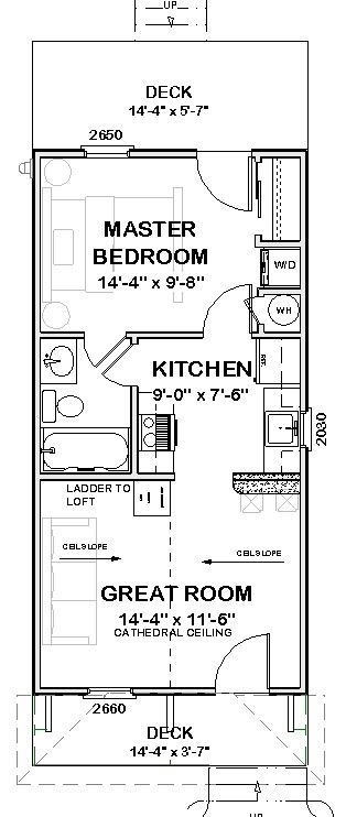Affordable House Tiny Home Blueprints Plans 1 Bedroom Cottage Cabin 720 Sf Pdf 39 99 House Blueprints House Floor Plans