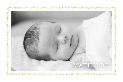 Faire-part de naissance Liberty tradition 2 photos by Tomoë pour www.fairepartnaissance.fr #rosemood #atelierrosemood #birth #announcement #baby #pictures