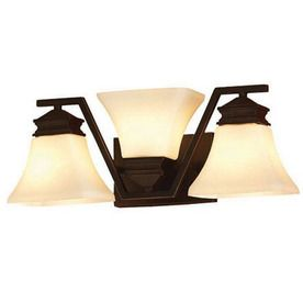 Bronze Bathroom Lights: allen roth 3-Light Oil-Rubbed Bronze Bathroom Vanity Light,Lighting