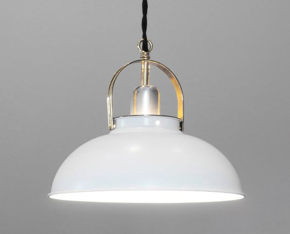1950's Danish Modern Pendant Light, New Wiring, Polished Chrome and Brass, Lovely Rare Vintage Piece