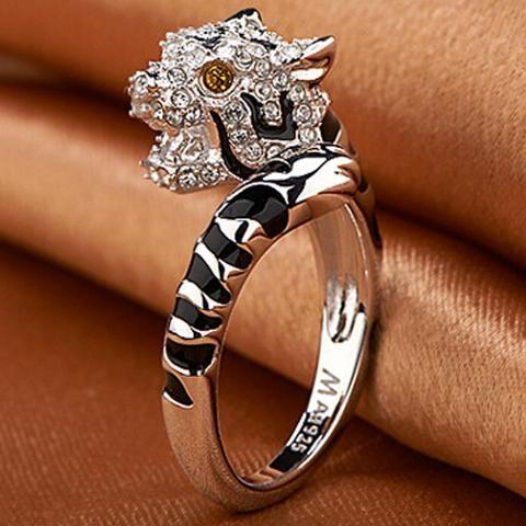 1PC Beauty Crown Rings Rhinestone Fashion Cute Charming Ring Finger Ring
