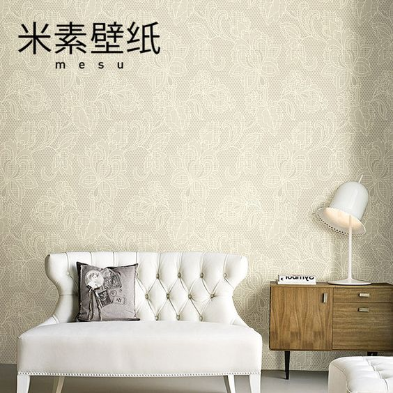 J m plain nonwoven wallpaper crystal diamond technology modern bedroom living room TV background wallpaper Mandala