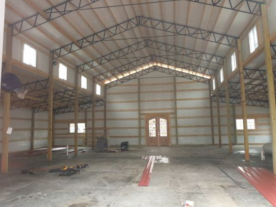 Inside 30x80 30x80 Monitor Enclosed Steel Truss Metal