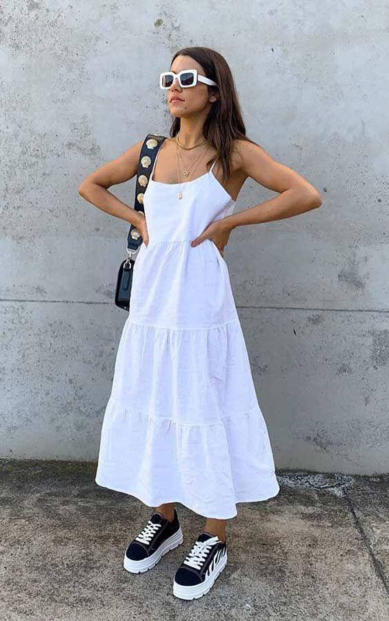 Como usar preto e branco no verão - Guita Moda