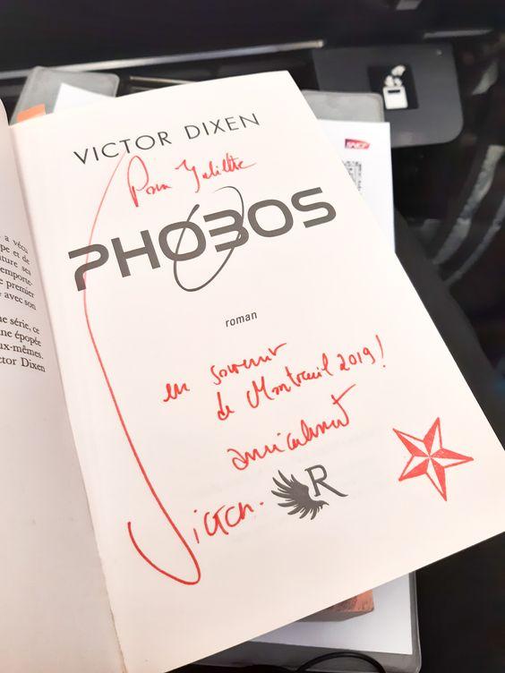 Phobos dédicacé par Victor Dixen