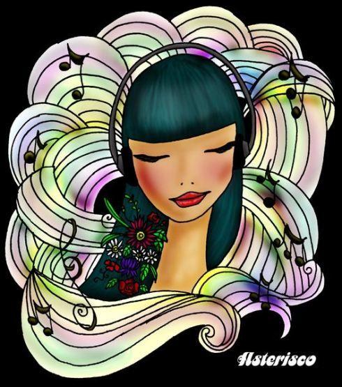 Music, ilustración by Asterisco.