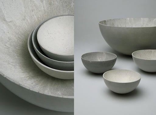 Concrete Bowls for BETONIU by Stephan Schulz — [frisch ausgeschalt] dekoschale aus beton http://betoniu.com/shop/wohnaccesoires-beton/dekoschale-aus-beton/