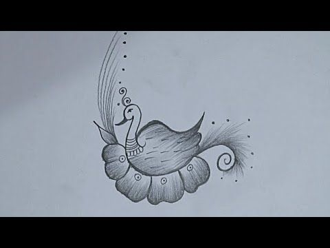Drawing Peacock Easy Peacock Pencil Drawing Easy How To Draw