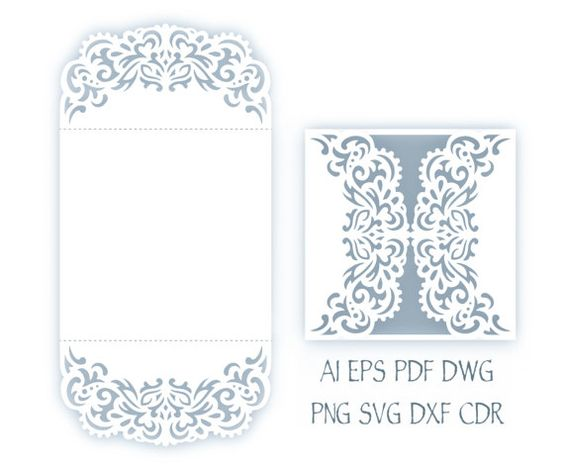 SVG Wedding invitation, 5x5'' Gate fold Card Template, Quinceanera ...