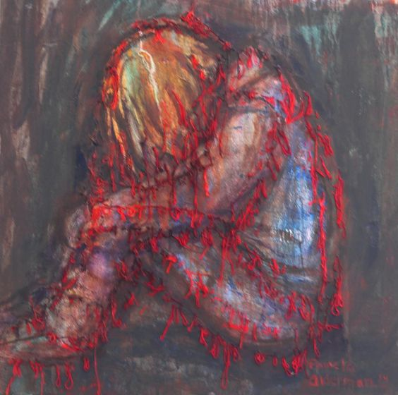"New painting added to the ""Scarlet Cord"" collection • END sex trafficking! Especially of male (yes, this is an equal opportunity crime; regardless of sexual orientation, predators harm children's right to integral human development) & female children --