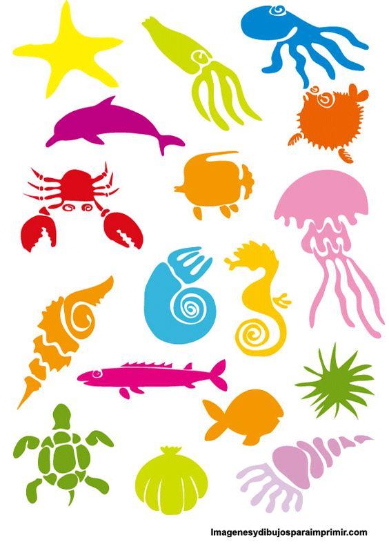Siluetas de animales marinos para colorear buscar con - Siluetas para imprimir ...
