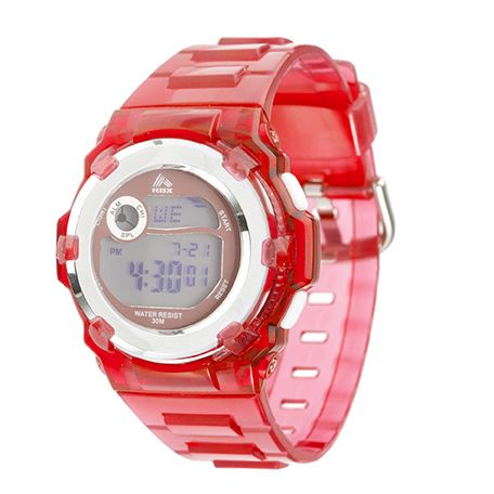 Xtreme RBX Sport Digital Silver Case and Strap Watch, Women's