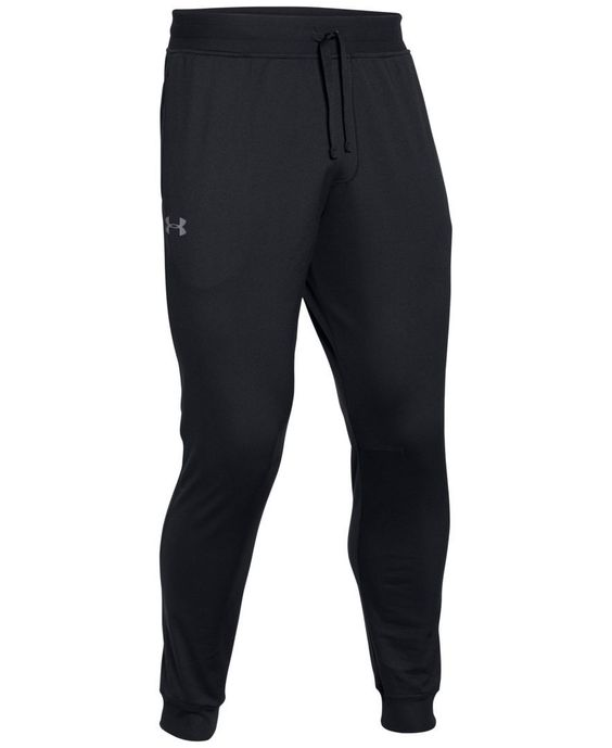 The fuller cut of these Under Armour joggers gives you room to move or to relax in comfort, while the tricot knit fabric keeps you both warm and dry. | Polyester | Machine washable | Imported | Ribbed