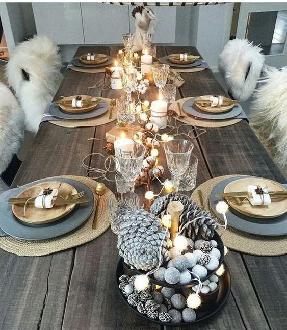 48 Beautiful Winter Dining Room Table Decor Ideas Which You Definitely Like