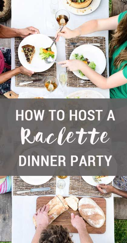 Real Food Raclette Dinner Party
