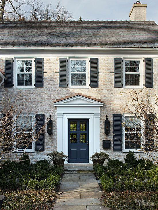 Most pinned curb appeal ideas blue doors window and eyes for Front doors for colonial homes