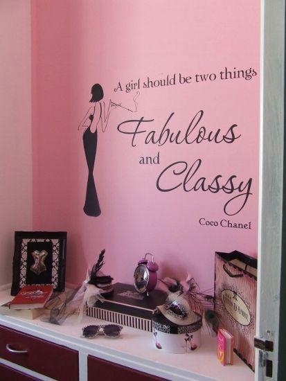 Burlesque home decor the vinyl decal adding wall interest for Burlesque bedroom ideas