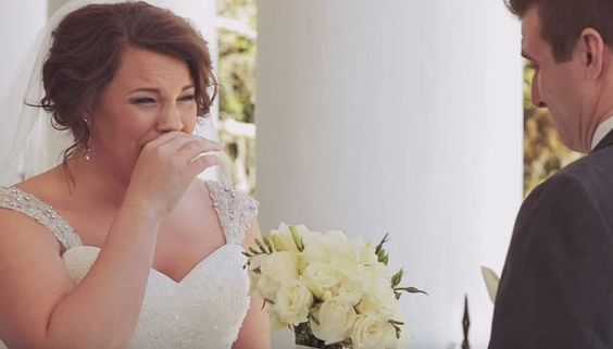This bride got a gift on her wedding day that has been saved for 20 years