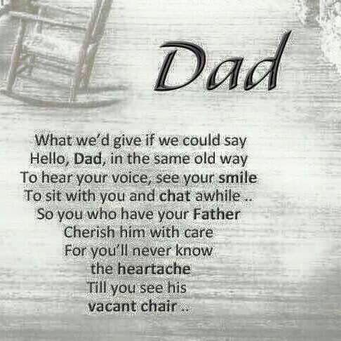 My father was not part of my life at all. Even though this quote is about missing a father after their death- it can relate to me in some ways- No one truly understands how hard it is to not have a dad until you experience it. I believe a father is a vital part of a child's life as well. Mom and Dad do not necessarily need to be married to each other to still be a part of the child's life...