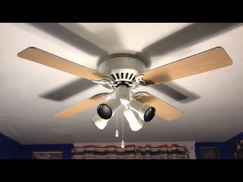 Hunter Infiniti Ceiling Fan 52 Bright Brass Greatest Hits Remake Youtube Ceiling Fan Fan Low Profile