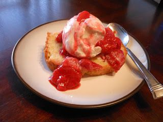 A Princess and A Warrior: Almond Pound Cake with Strawberry Compote