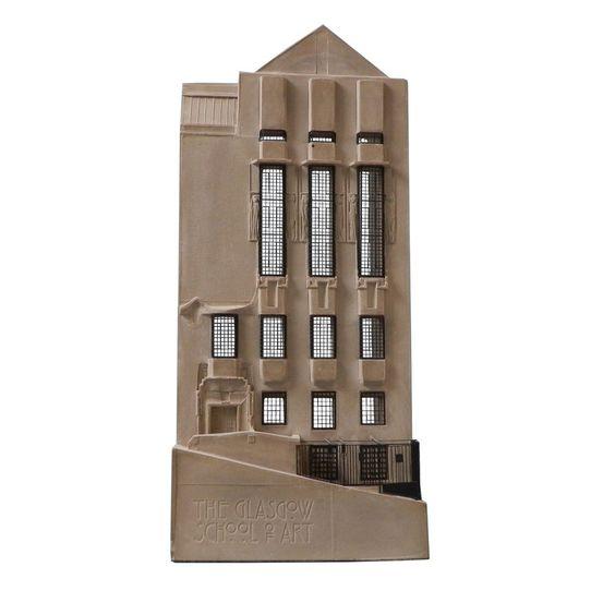 The Glasgow School of Art Mackintosh building west facade model £358.00