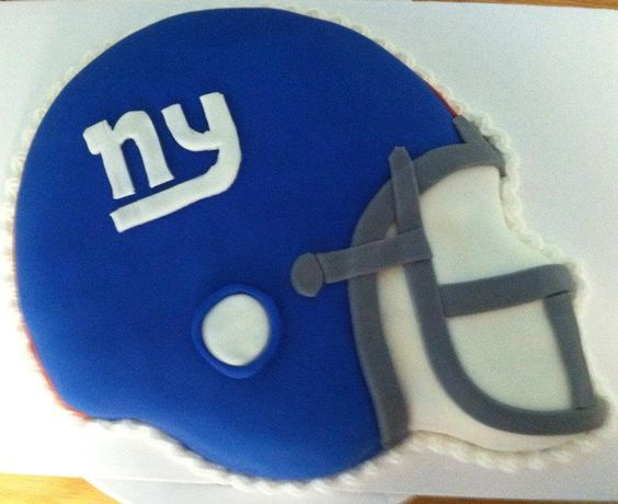 NY Giants Fondant cake we made for the Super Bowl. -  Sweet!  702 10th Ave., Belmar, NJ  07719  (732)280-8889