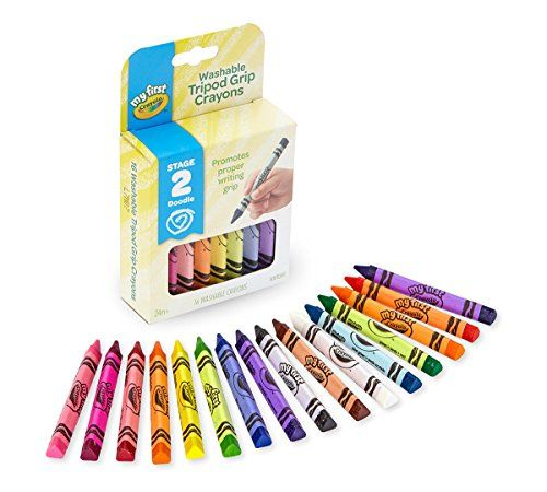 My First Crayola Washable Tripod Grip Crayons 16 Count Washable
