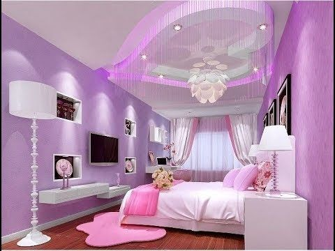 جبسيات غرف نوم للبنات ديكورات جبس بورد بناتي Gypsum Decoration Girls Rooms Youtube Country Style Bedroom Ceiling Design Bedroom Girl Bedroom Designs