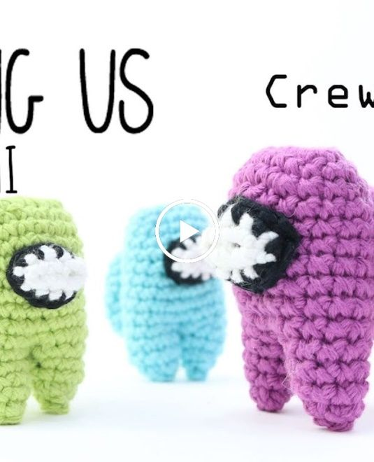 Tutorial Among Us Crewmate Amigurumi In 1 Hour Crochet Lanas Y Ovillos In English Animal Knitting Patterns Crochet Crochet Projects