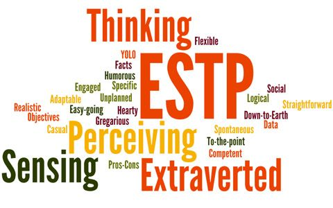 This section ESTP Personality gives a basic overview of the personality type, ESTP. For more information about the ESTP type, refer to the links below or on the sidebar.