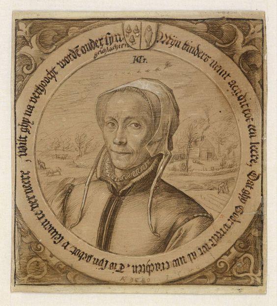 Portrait of Maritgen Pietersdochter, Hendrick Goltzius, 1580 | Museum Boijmans Van Beuningen