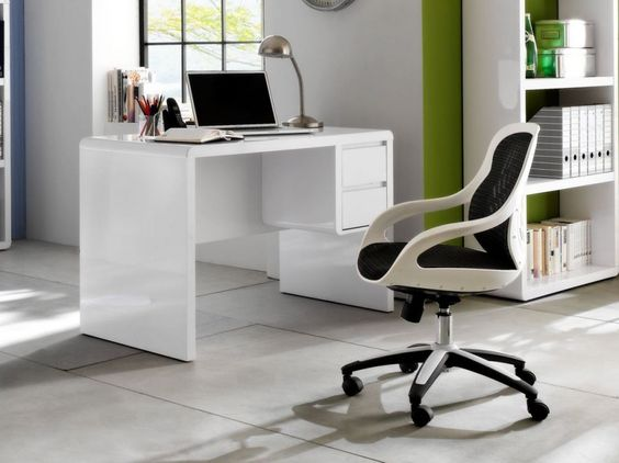 PRACTICAL Schreibtisch weiß Hochglanz jetzt online kaufen - Homie - küchen günstig online kaufen